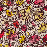 Seamless wave hand-drawn pattern. Watercolor seamless pattern.Ca Royalty Free Stock Photos