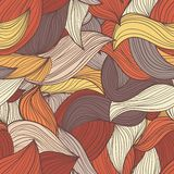 Seamless wave hand-drawn pattern, waves background Stock Photography