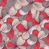 Seamless wave hand-drawn pattern, waves background Royalty Free Stock Photos