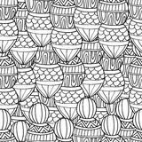 Seamless wave hand drawn pattern, waves background Stock Photo