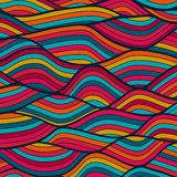 Seamless wave hand-drawn pattern, waves background (seamlessly t Stock Photo