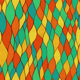 Seamless wave hand-drawn pattern, waves background (seamlessly t Royalty Free Stock Image