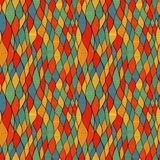 Seamless wave hand-drawn pattern, waves background (seamlessly t Stock Images
