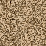 Seamless wave hand-drawn pattern, waves background (seamlessly t Stock Photos