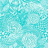 Seamless wave hand-drawn pattern, waves background (seamlessly tiling). Royalty Free Stock Photos