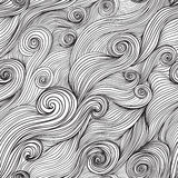 seamless wave hand-drawn pattern, waves background (seamlessly Stock Images