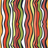 Seamless wave hand-drawn pattern Royalty Free Stock Images