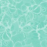 Seamless wave hand-drawn pattern, waves background (seamlessly tiling).Can be used for wallpaper, pattern fills, web page backgrou Royalty Free Stock Photography
