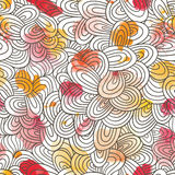 Seamless wave hand-drawn pattern, waves background. Watercolor Royalty Free Stock Images