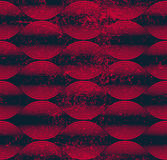 Seamless wave lines pattern, abstract geometric background, vect Royalty Free Stock Images