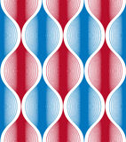 Seamless wave lines pattern, abstract geometric background, vect Royalty Free Stock Photos