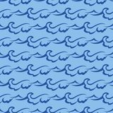 Seamless wave pattern. Abstract sea background Stock Image