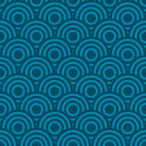 Seamless wave pattern background. Vector illustration Royalty Free Stock Photos