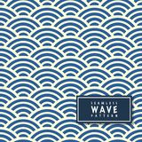 Seamless wave pattern in blue background.Ocean wave pattern in s Stock Image