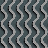 Seamless Wave Pattern. Curved Shapes Background. Regular Gray Texture Royalty Free Stock Photo