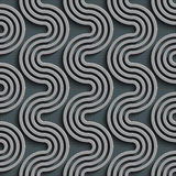 Seamless Wave Pattern. Curved Shapes Background. Regular Gray Texture Royalty Free Stock Photography