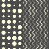 Seamless Wave Pattern. Fine Texture Design. Decorative Geometric Wallpaper stock illustration