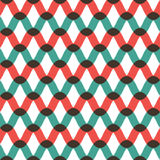Seamless wave pattern in retro style Royalty Free Stock Photos