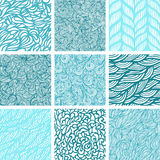 Seamless wave pattern Royalty Free Stock Image