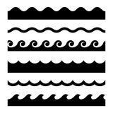 Seamless Wave Pattern Set. Vector Template Stock Photography