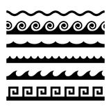 Seamless Wave Pattern Set. Vector Template Royalty Free Stock Photo