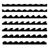Seamless Wave Pattern Set. Vector Template Stock Photo