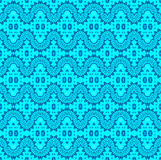 Seamless wave pattern turquoise blue Stock Photos