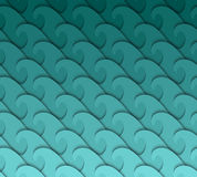 Seamless wave pattern. Stock Photography