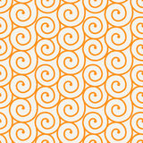 Seamless wave pattern. Seamless pattern.Vector background. Retro stylish texture. Repeating spiral curls Stock Photography
