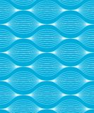 Seamless wave pattern. Vector illustration of a blue seamless wave pattern with two global colors Stock Photos