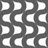 Seamless Wave Pattern Stock Images