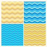 Seamless wave patterns Stock Photos
