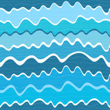 Seamless wave striped pattern Royalty Free Stock Photos