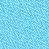 Seamless wave tile blue Royalty Free Stock Image
