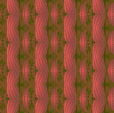Seamless waved pattern pastel red violet gold green Royalty Free Stock Image