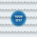 Seamless waves abstract pattern with minimal round text box desi Stock Photo