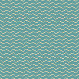 Seamless waves abstract vector pattern Stock Image