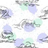 seamless waves för modell Arkivfoto