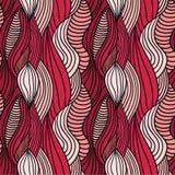 Seamless waves hand-drawn pattern Stock Image