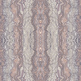 Seamless waves hand-drawn pattern Royalty Free Stock Photography
