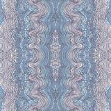 Seamless waves hand-drawn pattern Royalty Free Stock Image