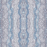 Seamless waves hand-drawn pattern Stock Photography