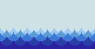 Seamless waves illustration Stock Photos