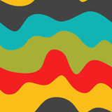 Seamless waves pattern with colorful curves for fabric texture, wallpaper or other background. Royalty Free Stock Image