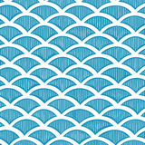 Seamless waves pattern Stock Image
