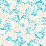 Seamless waves pattern. Stock Photo