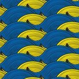 Seamless waves patterns. Vector art Royalty Free Stock Photo