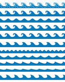 Seamless waves patterns set Stock Images