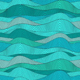 Seamless waves texture,wavy background.Copy that square to the s Stock Image