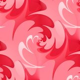Seamless wavy background in red Royalty Free Stock Image